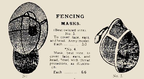 period fencing masks